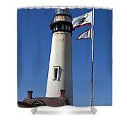 Pigeon Point Lighthouse Pescadero California Shower Curtain