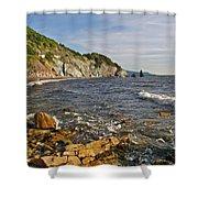 Pillar Rock In Cape Breton Highlands Np-ns Shower Curtain