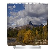 Pilot And Index Peaks   #9246 Shower Curtain