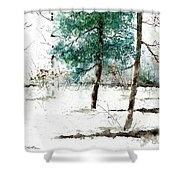 Pine Woods Shower Curtain