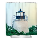 Piney Point Maryland Lighthouse Shower Curtain