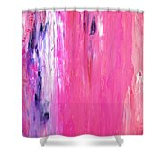 Girl Time - Pink And Purple Abstract Art Painting Shower Curtain