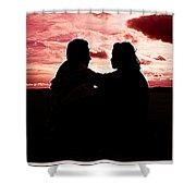 Pink Love Shower Curtain