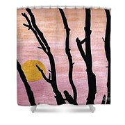 Pink - Sunrise Drawing Shower Curtain