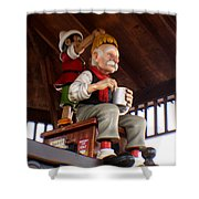 Pinocchio And Geppetto  Shower Curtain