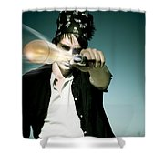 Pirate Shooing Gun Shower Curtain