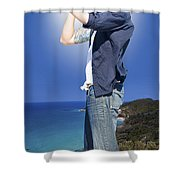 Pirate With Spyglass Shower Curtain