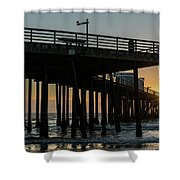 Pismo Beach Pier At Sunset, San Luis Shower Curtain