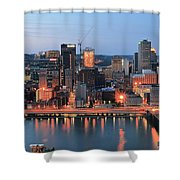 Pittsburgh At Dusk Shower Curtain