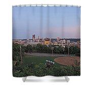 Pittsburgh Skyline At Dusk Shower Curtain