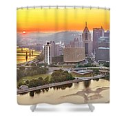 Pittsburgh Sunrise Panorama Shower Curtain