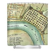 Plan Of New Orleans, 1798 Shower Curtain