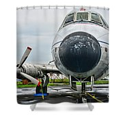 Plane Noses Up Shower Curtain