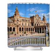 Plaza De Espana In Seville Shower Curtain