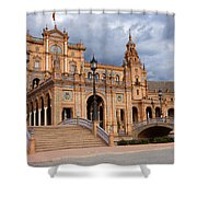 Plaza De Espana Pavilion In Seville Shower Curtain