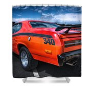 Plymouth Duster 340 Shower Curtain