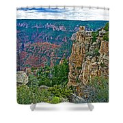 Point Imperial At 8803 Feet On North Rim Of Grand Canyon National Park-arizona   Shower Curtain