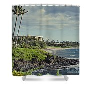 Polo Beach Wailea Point Maui Hawaii Shower Curtain