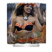 Polynesian Dancers Shower Curtain by Jason O Watson