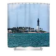 Pompano And The Hillsboro Inlet Lighthouse Shower Curtain