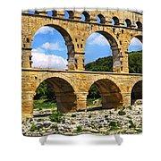 Pont Du Gard In Southern France Shower Curtain