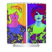 Pop Art Girl Shower Curtain