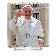 Pope Francis Shower Curtain by Diane Greco-Lesser