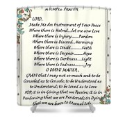 Pope Francis St. Francis Simple Prayer For Peace Shower Curtain