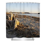 Popham Beach State Park - Phippsburg Maine Usa Shower Curtain