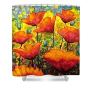 Poppy Corner Shower Curtain