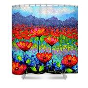 Poppy Vista Shower Curtain