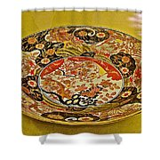 Porcelain Dish In Topkapi Palace In Istanbul-turkey  Shower Curtain