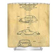 Porsche 911 Carrera 1964 Patent Art  Shower Curtain