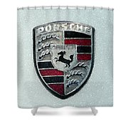 Porsche Emblem  Shower Curtain