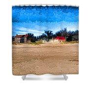 Port Huron Light House Shower Curtain