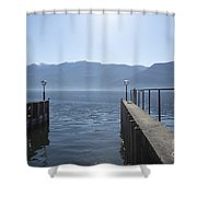 Port On An Alpine Lake Shower Curtain