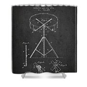 Portable Drum Patent Drawing From 1903 - Dark Shower Curtain by Aged Pixel