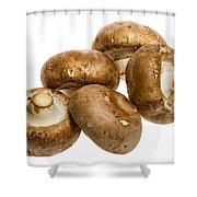 Portobello Mushrooms Shower Curtain
