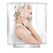 Portrait Of A Beautiful Bride Shower Curtain