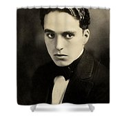 Portrait Of Charlie Chaplin Shower Curtain