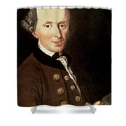 Portrait Of Emmanuel Kant Shower Curtain