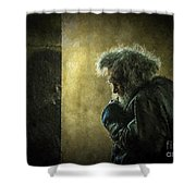 Portrait Of The Homeless Shower Curtain