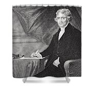 Portrait Of Thomas Jefferson Shower Curtain by Alonzo Chappel