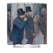 Portraits At The Stock Exchange Shower Curtain