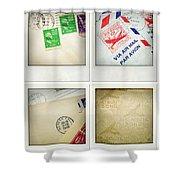 Postal Still Life Shower Curtain