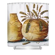 Pottery Shower Curtain