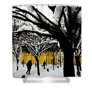 Prague Winter  Shower Curtain