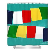 Prayer Flags Shower Curtain by Linda Woods