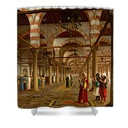 Prayer In The Mosque Shower Curtain