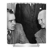 President Eisenhower And Nixon Shower Curtain